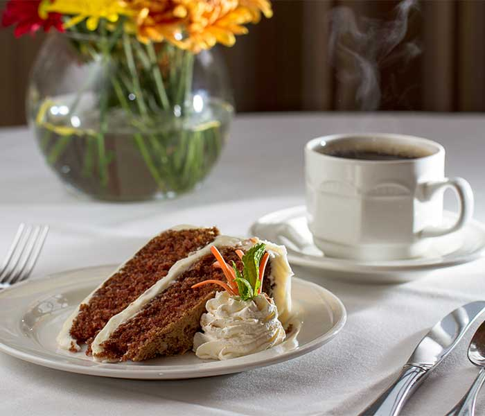 Carrot cake at Hoosier Village