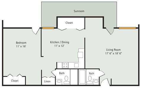 Magnolia 1 Bedroom Floorplan
